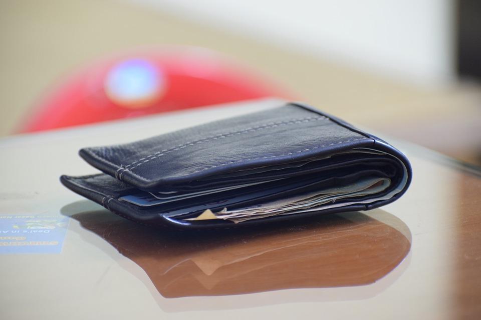 položená peněženka